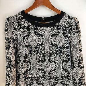 Xhilaration Black and White Dress